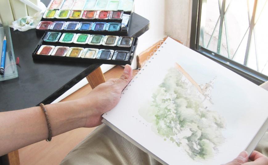水彩画で日常を描く