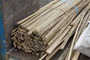原料の竹(京都産)